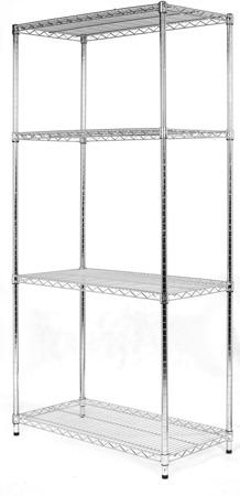 Regał Chrom 4-półki (61x61x160cm)